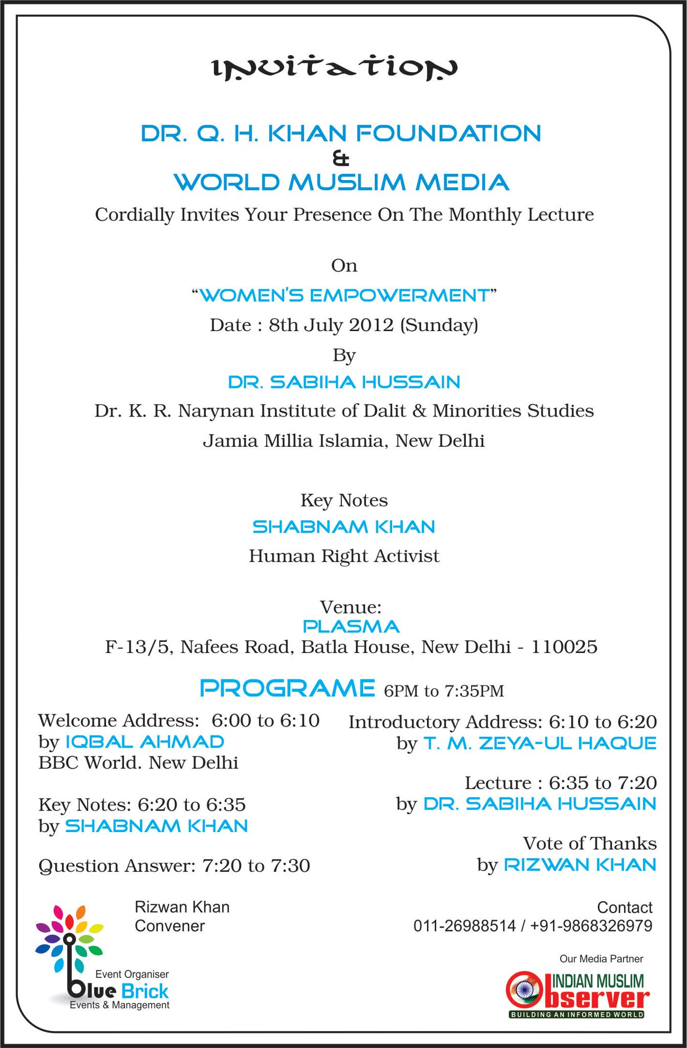 Invite You All (WOMEN'S EMPOWERMENT), Delhi