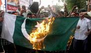 पाकिस्तान का राष्ट्रीय ध्वज फूंका