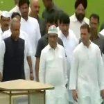 दलितों के मुद्दे पर आज अनशन पर पूरी कांग्रेस, राहुल गांधी पहुंचे राजघाट