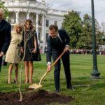 व्हाइट हाउस में ट्रंप-मैक्रों का लगाया पौधा हफ्तेभर में 'गायब'