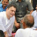 अमेठी दौरे पर किसानों से मिले राहुल गांधी, समस्याओं का लिया हाल
