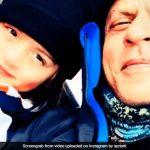 कभी पापा शाहरुख संग बिस्तर पर तो कभी बर्फ स्की करते नजर आए अबराम, यूं मना रहे हैं छुट्टियां